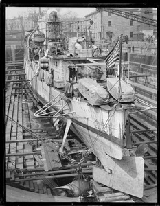 USS Sharkey - destroyer in Navy Yard dry dock