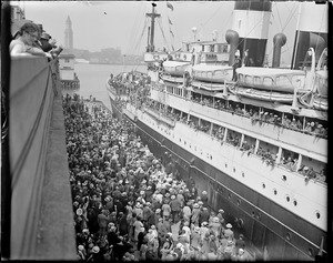 American legion leaving Boston on SS George Washington
