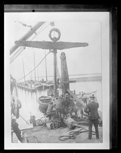 Anchor of USS Maine after explosion in Havana Harbor