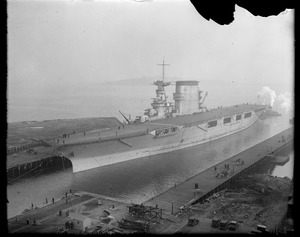 USS Lexington in South Boston drydock