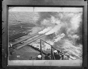 USS Tennessee - guns firing