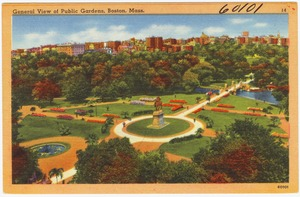 General view of Public Gardens, Boston, Mass.