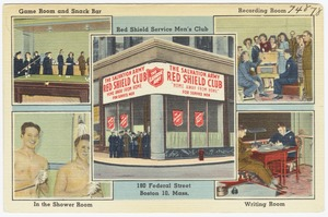 Red Shield Service Men's Club, 180 Federal Street, Boston 10, Mass.