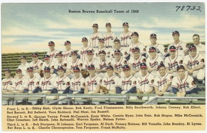 Boston Braves Baseball Team of 1948