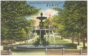 Historic Brewer Fountain, Boston, Mass.