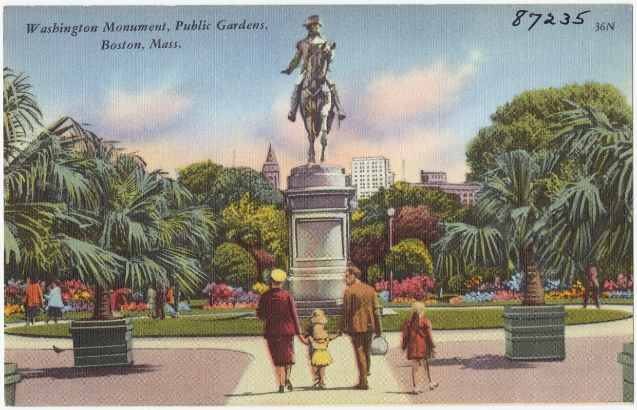 Washington Monument, Public Gardens, Boston, Mass.