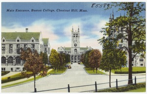Main entrance, Boston College, Chestnut Hill, Mass.
