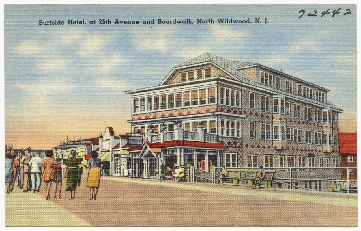 Surfside Hotel At 25th Avenue And Boardwalk North Wildwood N J