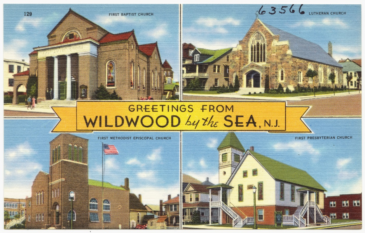 greetings from wildwood by the sea n j first baptist church