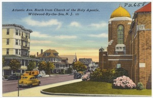 Atlantic Ave., north from Church of the Holy Apostle, Wildwood-by-the-Sea, N. J.