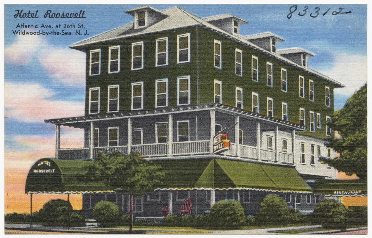 Hotel Roosevelt Atlantic Ave At 26th St Wildwood By The Sea N J