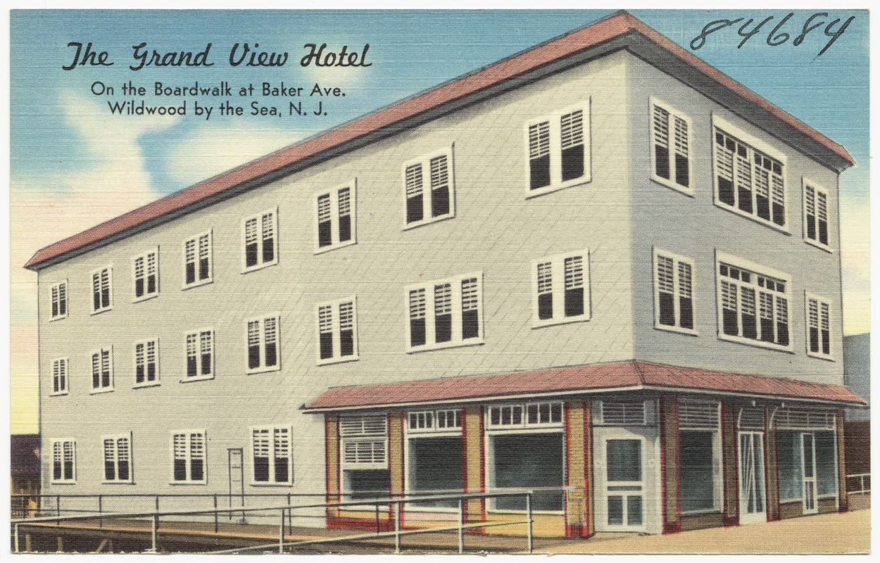 The Grand View Hotel On Boardwalk At Baker Ave Wildwood By Sea N J