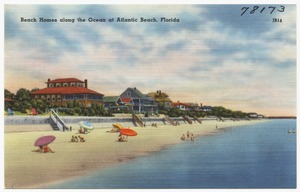 Beach homes along the ocean at Atlantic Beach, Florida