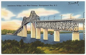 Jamestown Bridge, over West Passage, Narragansett Bay, R. I.
