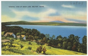General view of Swan Lake, Belfast, Maine