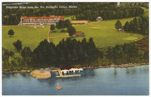 Belgrade Hotel from the air, Belgrade lakes, Maine