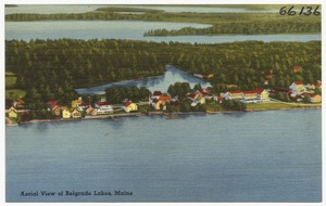 Aerial view of Belgrade Lakes, Maine
