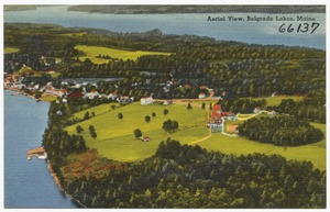 Aerial view, Belgrade Lakes, Maine