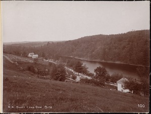 Wachusett Aqueduct, Shaft No. 1 and dam site, from the east, Clinton, Mass., May 23, 1896