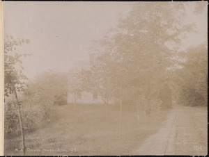 Wachusett Aqueduct, E. W. Daily's house, near the portal, from the north, station 105, Berlin, Mass., May 23, 1896