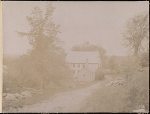 Wachusett Aqueduct, Nathan and Elizabeth S. Severance's house, north side, station 179, Berlin, Mass., May 23, 1896
