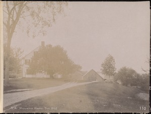 Wachusett Aqueduct, Philip G. Hilliard's house, station 302, from the south, Northborough, Mass., May 23, 1896