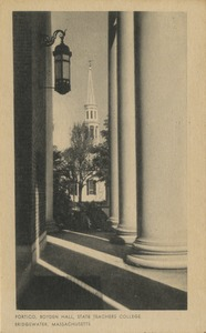 Portico, Boyden Hall, State Teachers College, Bridgewater, Massachusetts