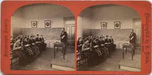 Classroom of A.G. Boyden, State Normal School at Bridgewater