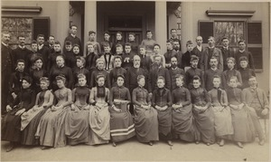 Bridgewater Normal School faculty and students