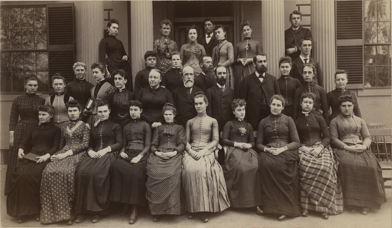 Bridgewater Normal School faculty and students, circa 1890