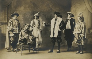 "Cast members from a Bridgewater Normal School production of ""Twelfth Night"""