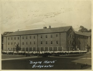 Singing march to the dining hall, State Normal School at Bridgewater, Massachusetts