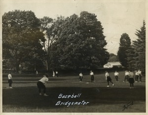 Women's softball game, State Normal School at Bridgewater, Massachusetts