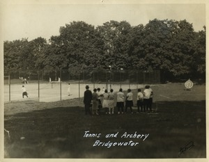 Tennis and archery, State Normal School at Bridgewater, Massachusetts