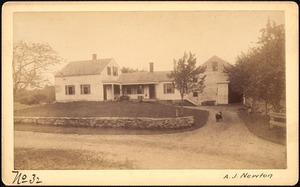 Sudbury Reservoir, real estate, A. J. Newton, house and barn, Southborough, Mass., ca. 1893