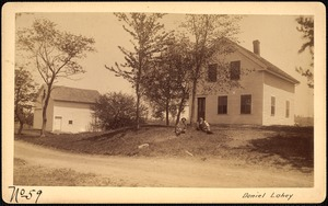 Sudbury Reservoir, real estate, Daniel Lahey, house and barn, Southborough, Mass., ca. 1893