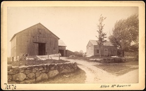 Sudbury Reservoir, real estate, Allan McQuarrie, house and barn, Southborough, Mass., ca. 1893