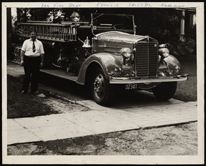 Francis Shields with Lee fire truck