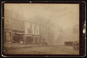 Fire fighters on Main St. East side, next to today's town hall
