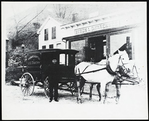 Byron L. DeVarennes General Store and Norton Bakery Wagon