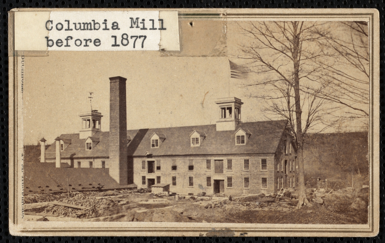 Columbia Mill before 1877