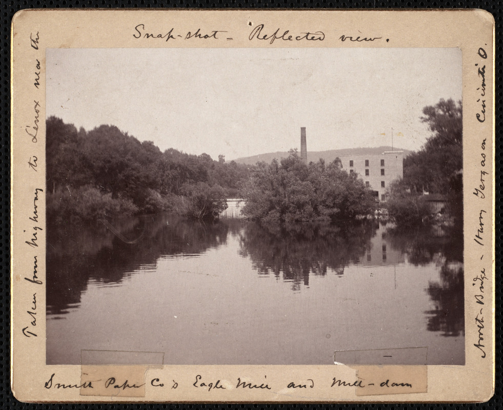 Reflected view of Smith Paper Company's Eagle Mill