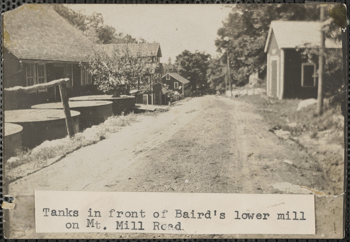 Tanks in front of Baird lower mill