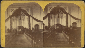 1st Congregational Church interior, in Lee