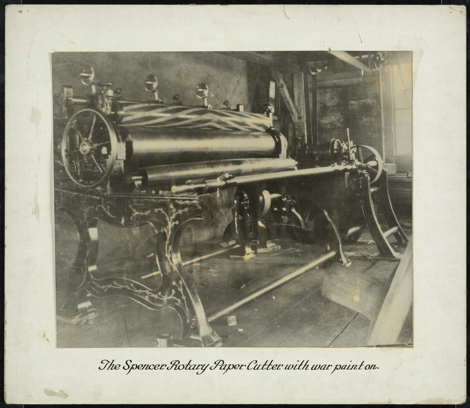 Spencer Rotary Paper Cutter