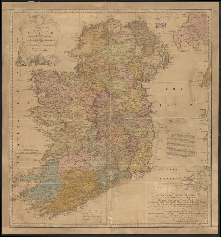 Map Of Ireland Counties And Provinces.A New And Accurate Map Of The Kingdom Of Ireland Divided Into