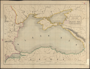 Collins' chart of the Black Sea showing ports & harbours