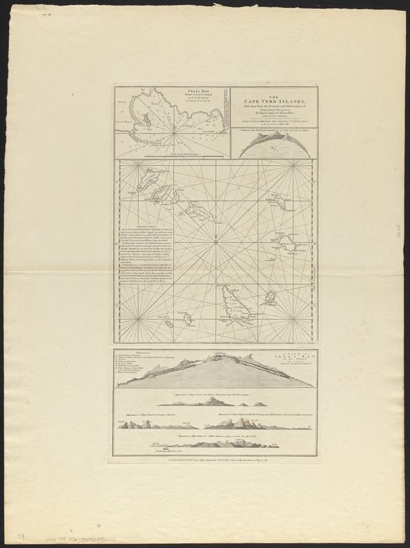The Cape Verd Islands, laid down from the remarks and observations of experienced navigators