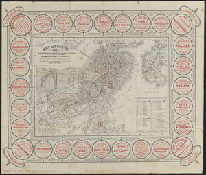 Map of Boston 1862