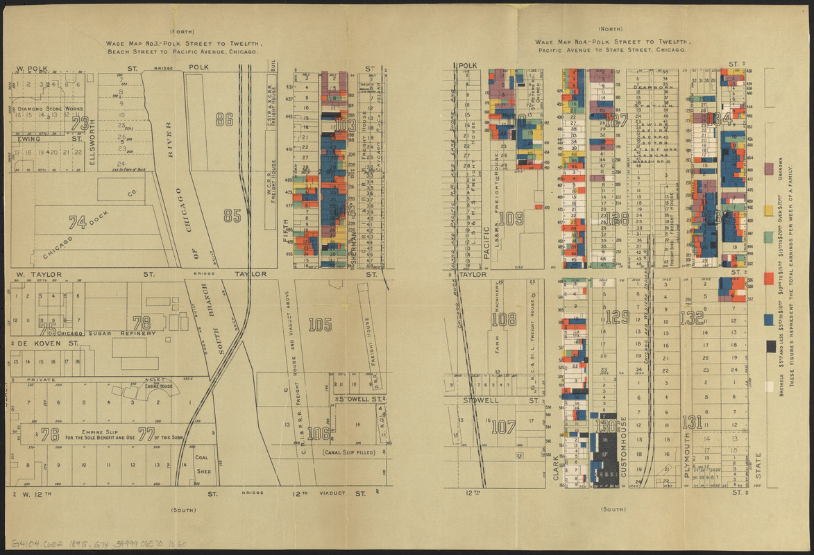 Wage map no 3 Polk Street to Twelfth Beach Street to Pacific